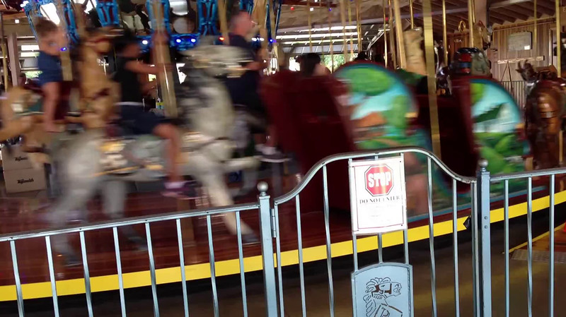 Video Archive Clip 2013 (Aug 31) - Jacob Benjamin Yaden, Jr. (Jake) - Age 6 - Time Riders - Little Jake rides the Richland Carrousel along with his Dad from 20 years earlier..... - Mansfield, OH (29 sec)