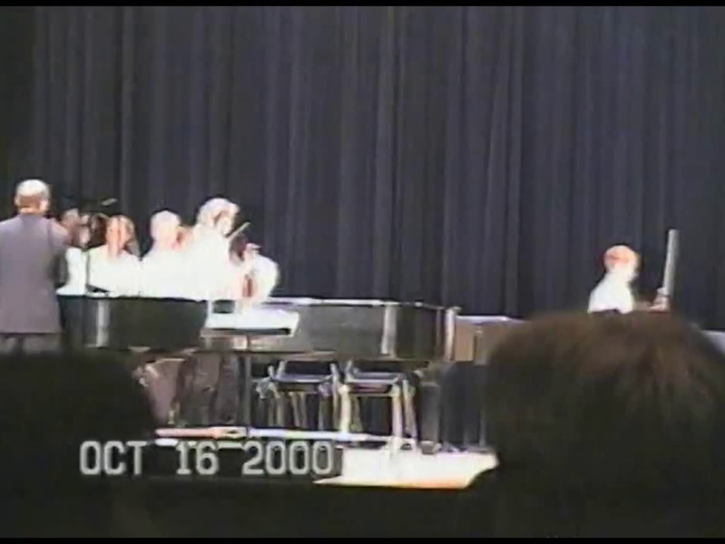 Video Archive Clip 2000 (Oct) - Yaden, Steven R. - Age 12 - Steven plays cello in his first strings concert under the baton of orchestra director Bob Kreutz - Thompson Valley High School Auditorium - Loveland, CO - Original VHS Series (6 min 50 sec)