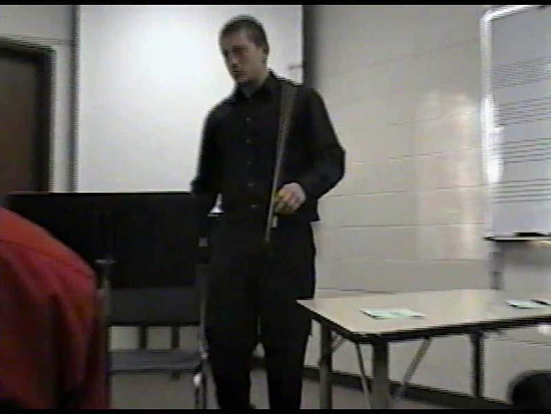 Video Archive Clip 2007 (Dec 4) - Yaden, Steven R. - Age 19 - Steven's Cello Seminar (Sophomore year) - Doane College - Crete, NE - Original VHS Series (8 min 52 sec)