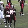 Video Archive Clip 2009 (Oct 10) - Yaden, Steven R. - Age 21 - Steven (#40, black jersey, tight end) plays football for the Doane Tigers (Senior year) - Matt Franzen, Head Coach - Doane College (Tigers) of Crete, NE vs Dakota Wesleyan University (Tigers) of Mitchell, SD - Simon Field at Doane College - Original VHS Series (13 min 42 sec)