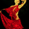 Red Dress Dancer Mosaic