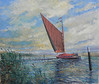 painting of wherry on the Broads
