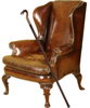 Ormond's chair & cane