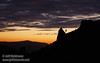 Post-sunset red-orange glow over a silhouetted mountain ridge with a spire and tree (11/2/2013, Wrights Rd.)<br /> EF24-105mm f/4L IS USM @ 88mm f6.4 1/99s ISO1000