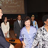 Deputy Secretary-General Asha-Rose Migiro (right) with Executive Secretary Noeleen Heyzer (center) leaving Conference Room 1 after their discussions with UN staff in Thailand at a townhall meeting. Also in the picture to the left of the Executive Secretary are Deputy Executive Secretary, Shigeru Mochida, and Chief of Space Applications, ESCAP Wu Guoxiang (far left).<br /> <br /> May 14-15, 2009<br /> Bangkok, Thailand