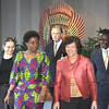Deputy Secretary-General Asha-Rose Migiro (second left) and Executive Secretary Noeleen Heyzer (front center) walk to United Nations Conference Center in Bangkok to attend the Regional Coordination Meeting. Accompanying both are Secretary of the Commission, Richard Kalina (back center), Director, Office of the Deputy Secretary-General, Parfait Onanga Anyanga and Deputy Executive Secretary Shigeru Mochida (far right).<br /> <br /> May 14-15, 2009<br /> Bangkok, Thailand