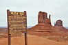 Signage in Monument Valley Wildcat Trail