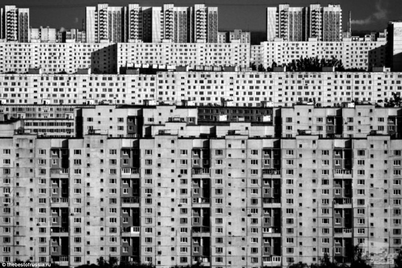 Tower blocks in Moscow that inspired the back wall idea