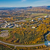 An aerial view of the Fairbanks campus looking southwest with Mt. McKinley visible on the horizon.