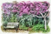 ZZZRed Buds and Bench_DAP_Watercolor