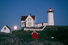 Buzzed ME Nubble Moonrise Closeup