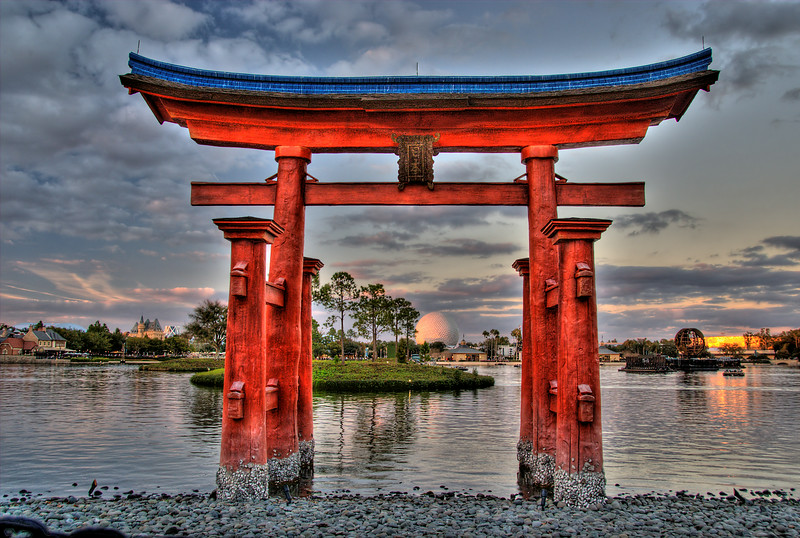 Japanese Gateway to the World Lagoon at EPCOT