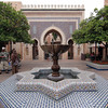 Looking towards the Bab Boujouloud gate in the Morocco Pavilion.  The gate is modeled after a gateway in the city of Fez.