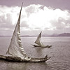 Sailing on Lake Victoria (black & white)