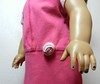 AG TC Pink Dress w Bottom Band and Lt Pink Dots  Rose & Sleeves detail