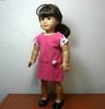 AG TC Pink Dress w Bottom Band and Lt Pink Dots  Rose & Sleeves turned