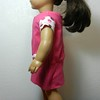AG TC Pink Dress w Bottom Band and Lt Pink Dots  Rose & Sleeves side