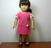 AG TC Pink Dress w Bottom Band and Lt Pink Dots  Rose & Sleeves full