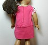 AG TC Pink Dress w Bottom Band and Lt Pink Dots  Rose & Sleeves back