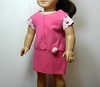AG TC Pink Dress w Bottom Band and Lt Pink Dots  Rose & Sleeves front
