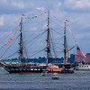 """HAPPY 4th!"" USS Constitution turn around in Boston Harbor"