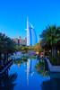 The Madinet Jumeirah and the Burj al Arab Hotel in Dubai, UAE.