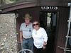 19 Bruce & Sue on the caboose on the way back