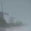 Misty morning, Kinderdijk