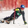 Hig Roberts of Middlebury College, skis during the second run of the men's slalom at the Dartmouth Carnival at Dartmouth Skiway on February 8, 2014 in Lyme, NH. (Dustin Satloff/EISA)