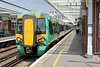 377164 Horsham 21/7/2014<br /> 1J70 1232 London Victoria-Southampton Central