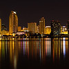 The San Diego skyline as seen from Coronado.Panorama format 1:3