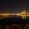 The San Diego skyline as seen from The Coronado Ferry Landing. Format 1:2