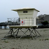 Classic beach life guard stand from an earlier era