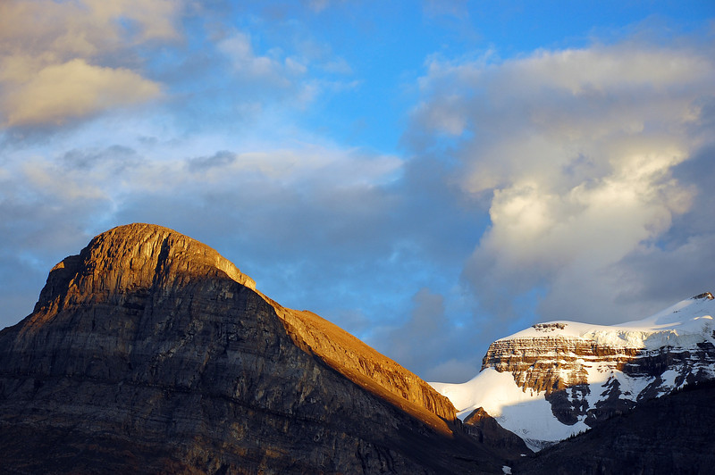 Brewing late afternoon storm in the Canadian Rocky Mountains