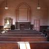 The Ghost Town of Bodie - now California State Park, church interior.