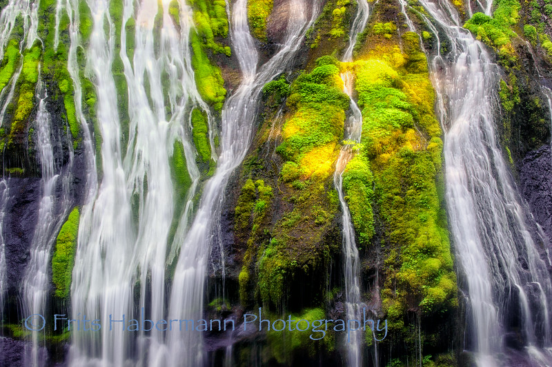Streams off the top of Panther Creek Falls, WA