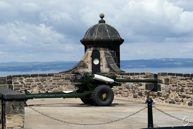 Cannon Edinburgh Castle Scotland Daily