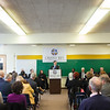 Mr. Andrew Stith (photo center, at podium) was named the first president of Cristo Rey Jesuit High School Milwaukee