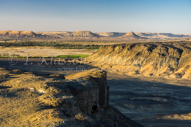 A view of the Bahariya Oasis from English Mountain in the Western Desert of Egypt.
