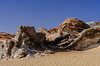 Geological features of Crystal Mountain in the Western Desert of Egypt.