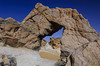 A rock arch on Crystal Mountain in the Western Desert of Egypt.