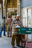 A bread vendor in Zamalek district of Cairo, Egypt.
