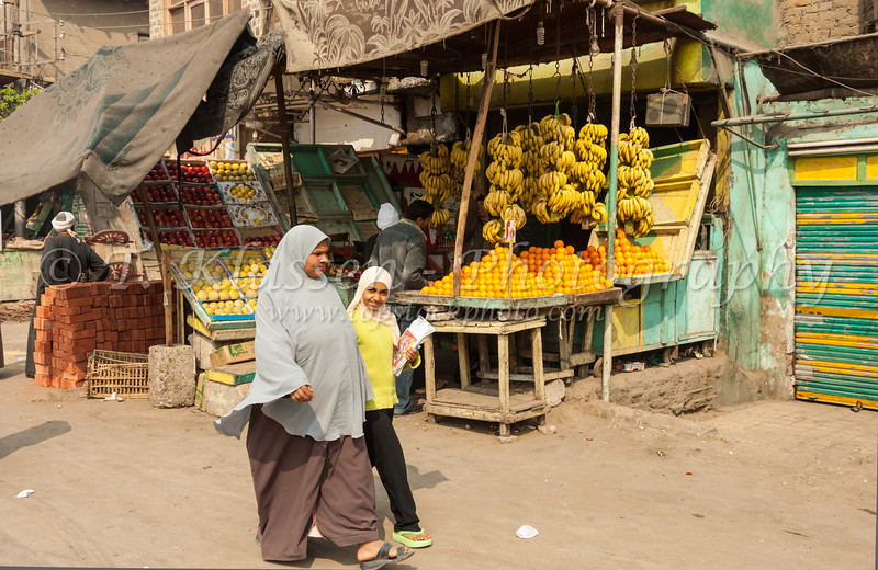 The village market in Al Fayoum, Egypt.