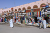 Souvenir kiosks at the boat dock on Lake Nasser, Egypt.