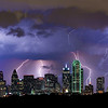 """""""Electric Sky"""" <br><br> Dallas, TX<br><br> In 2011 in Dallas we had over 70 days where the temperature was 100 or more.  In 2012 we had a welcome break in June and August with a lot of rain and storms.  I shot this image in mid August, normally a very dry and hot period in Dallas.  What a night!<br><br> Technical Details: Shot with Canon 5d MK2 and Canon 70-200L lens."""