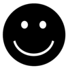 Smiling Face - black