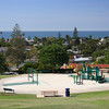 Orpheus Park in Encinitas has an ocean view playground