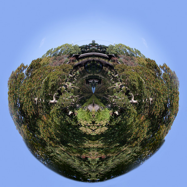 Little planet Kyoto garden, Japan