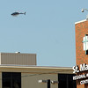 An Air Evac Lifeteam helicopter approaches St. Mary's Regional Medical Center Thursday, June 12, 2013. (Staff Photo by BONNIE VCULEK)
