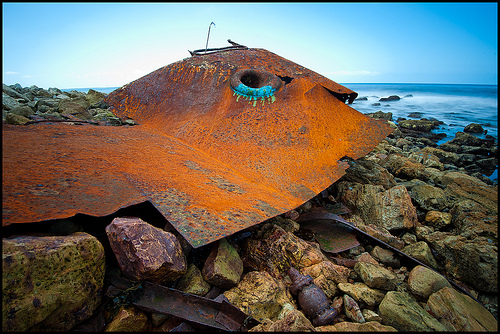 Bow of the Dominator Shipwreck in PV